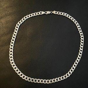 .925 Sterling silver Italian Herringbone necklace